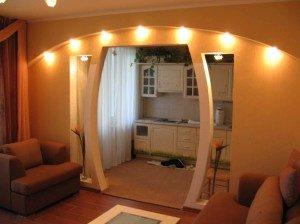 ремонт кухни арки